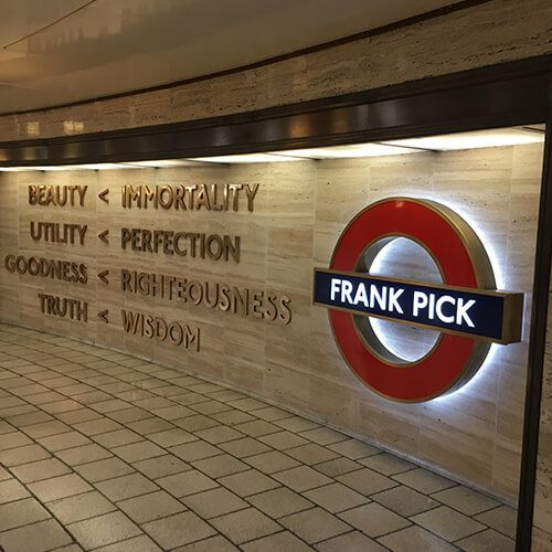 Project - Art on the underground - Piccadilly Circus